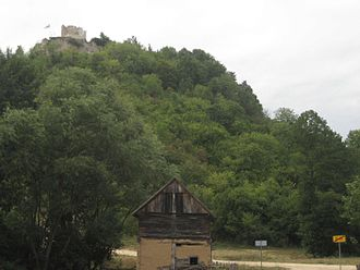 Zrin - Village limits of Zrin; view of the castle