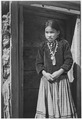 """""""Navajo Girl, Canyon de Chelle, Arizona, 1941."""" (Canyon de Chelly National Monument) (vertical orientation), 1941 - NARA - 519950.tif"""