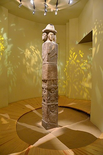 "Slavs - The ""Zbruch Idol"" preserved at Krakow Archaeological Museum"