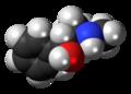 (1R,2R)-Pseudoephedrine molecule spacefill.png