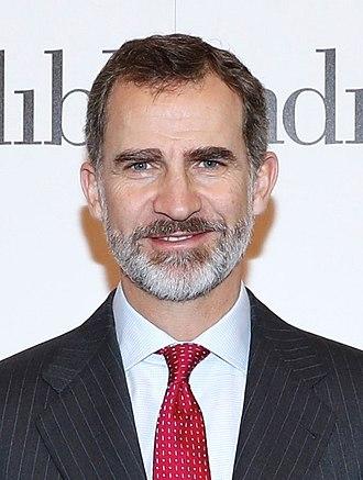 Monarchy of Spain - Image: (Felipe de Borbón) Inauguración de FITUR 2018 (39840659951) (cropped)
