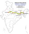 (Jaipur - Kamakhya) Kavi Guru Express route map.png