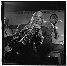 (Portrait of Sidney Bechet, Freddie Moore, and Lloyd Phillips, Jimmy Ryan's (Club), New York, N.Y., ca. June 1947) (LOC) (4843735718).jpg