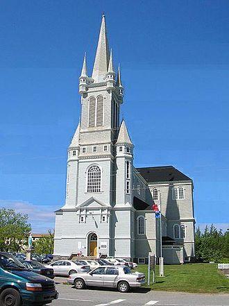 Université Sainte-Anne - Sainte-Marie's Church behind the University at Pointe-de-l'Église