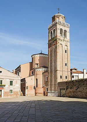 San Sebastiano, Venice - Bell tower and apse.