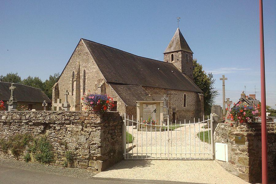 église de Saint-Symphorien-les-Buttes, commune associé à fr:Saint-Amand (Manche)