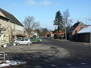 Øster Ulslev Town in Zealand, Denmark