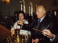 Валентина Фёдоровна и Виктор Степанович Черномырдины в храме. с. Чёрный Отрог. 2003 г..jpg