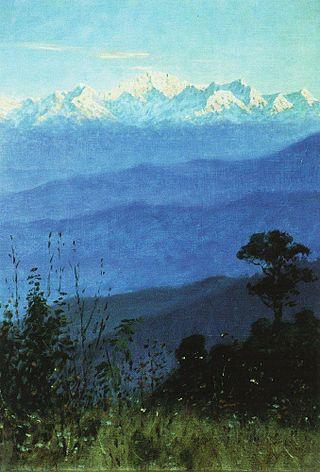 Гималаи вечером, 1875