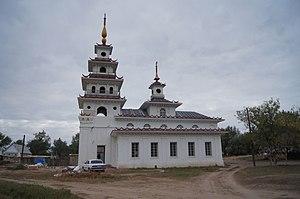 Kharabalinsky District - Kalmyk khurul, in Kharabalinsky District
