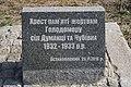 Пам'ятний знак жертвам голодомору, с. Думанці, напис.jpg