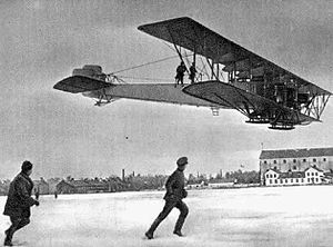 Airliner - Sikorsky Ilya Muromets while in use as a bomber by Russia