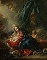 Франсуа Буше. Мадонна с младенцем и маленьким Иоанном Крестителем, 118х90 см..jpg