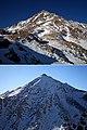 بالایی نمای شرقی قله شهباز - پایینی نمای غربی قله ی شهباز - panoramio.jpg