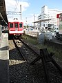 神戸電鉄 三田線終点の列車止め End of the line for Sanda Line - panoramio.jpg