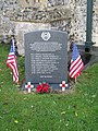 -2020-11-12 Memorial stone commemorating the crew of B24H Liberator aircraft, 'Alfred', of the 392nd Bombardment Group, All Saints, Upper Sheringham.JPG