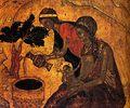-Clio Team- 1405 Andrei Roublev Nativite du Christ, detail Ecole de Moscou Moscou, Galerie Tretiakov cdladk.jpg