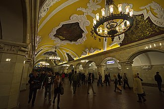 Rapid transit - The Moscow Metro is one of the busiest metro systems in the world and is the busiest in Europe.