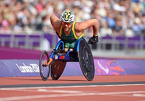 Kurt Fearnley - Fearnley racing at the 2012 London Paralympics
