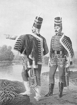 Bulgarians - Officers from Bulgarian hussar regiment in Russia (1776–1783)