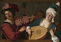 08. A Merry Group Behind a Balustrade with a Violin and a Lute Player Gerrit van Honthorst.jpg