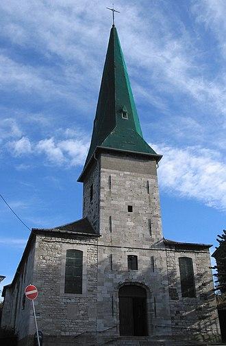 Mont-sur-Marchienne - Image: 0 Mont sur Marchienne église de la Conversion du Saint Paul (2)