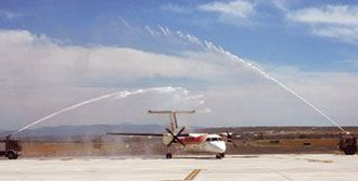 Burgos Airport - First flight as commercial airport in 2008