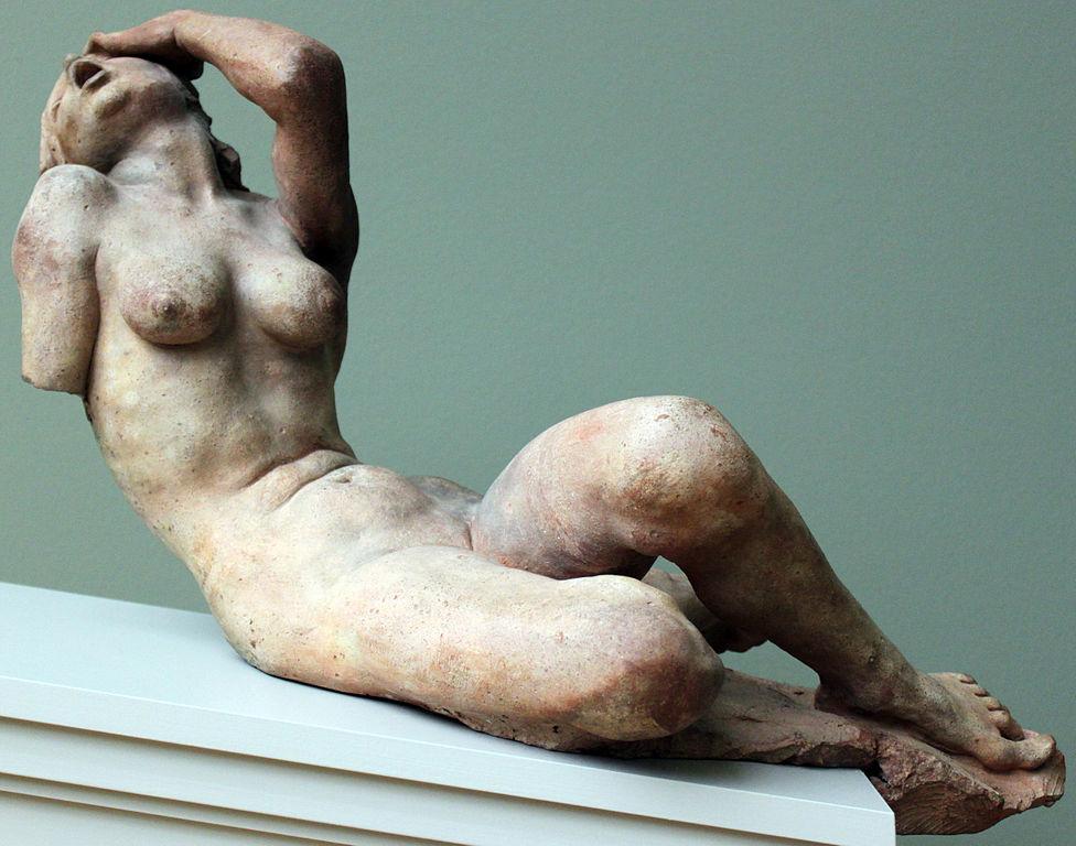 Femme criant dans la collection des sculpture du musée Bode à Berlin (Pays-Bas fin 1500)