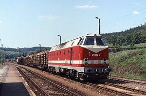 DR Class 119 - Image: 17.05.93 Rottenbach 219.092 (6332347249)