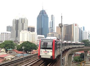 Ampang Line - Image: 170607 KL city centre from PWTC