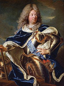 1710 portrait of Louis Antoine de Pardaillan de Gondrin, Duke of Antin wearing the Order of the Holy Spirit by Hyacinthe Rigaud (Versailles).jpg