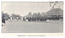 French Colonial Soldiers at drill in Brazzaville in 1899