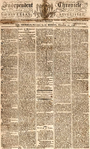 Independent Chronicle - The Independent Chronicle and the Universal Advertiser (Boston: 1798)