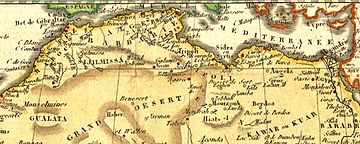 Mapa.  Costa da Barbária do Norte da África, 1806