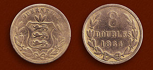 Guernsey pound - 1864 Guernesey 8 Doubles