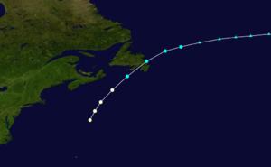 1884 Atlantic hurricane season - Image: 1884 Atlantic hurricane 1 track