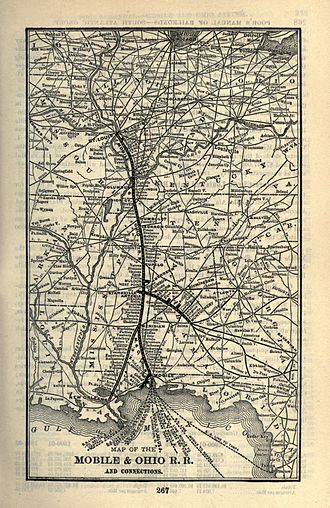 Mobile and Ohio Railroad - Image: 1903 Poor's Mobile and Ohio Railroad