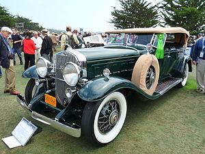 Vintage car - 1930 Cadillac V-16 452 Sport series phaeton