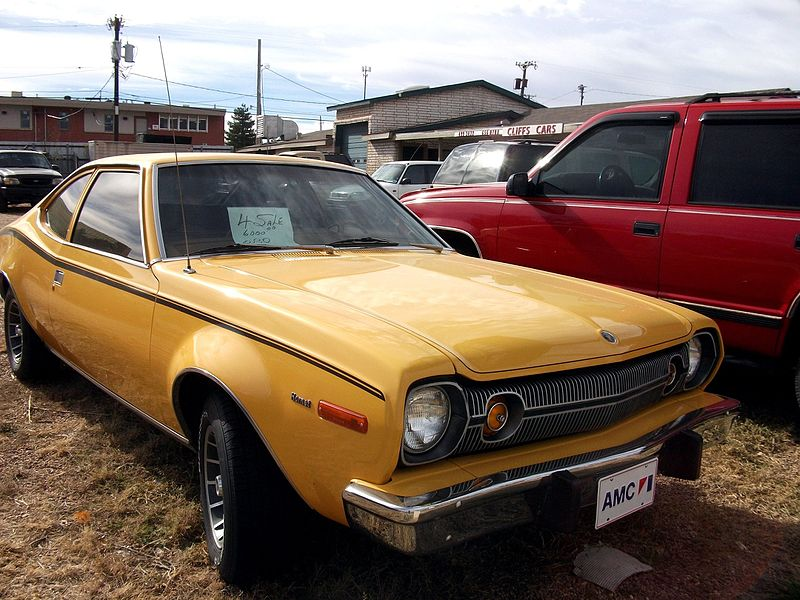 File:1974 AMC Hornet Hatchback yellow (5245721334).jpg - Wikimedia