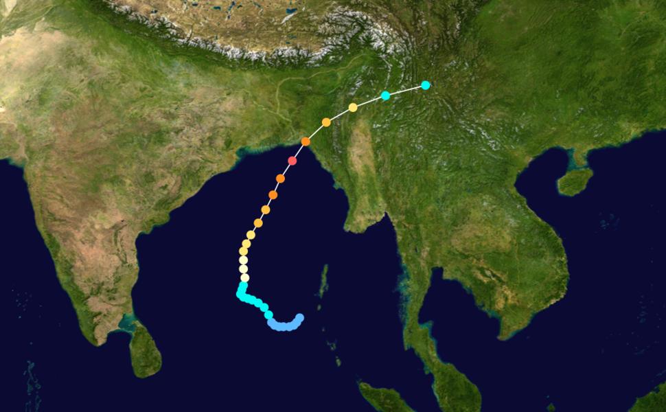 1991 Bangladesh cyclone track