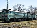 2ТЭ10М-0596, Казахстан, Карагандинская область, депо Караганда-Сортировочная (Trainpix 99399).jpg