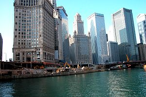Chicago Riverwalk - Construction in 2002