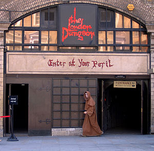 Front entrance of the London Dungeon.