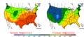 2008-06-06 Color Max-min Temperature Map NOAA.png