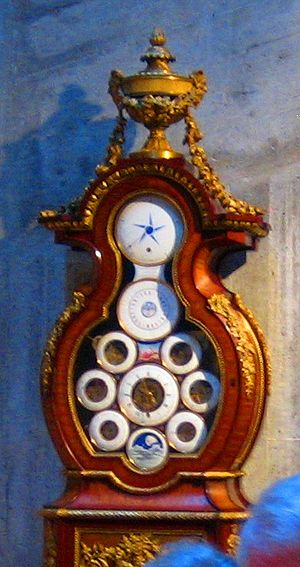 International Museum of Horology - Tall case clock with multiple complications by Antide Janvier at the Musée international d'horlogerie in La Chaux-de-Fonds.
