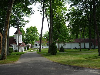 Bay View, Michigan - Crouse Chapel and some of the main Association Grounds