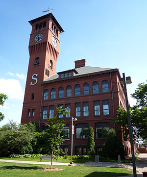 University of Wisconsin–Stout - Bowman Hall, the oldest building on campus, opened in 1897.