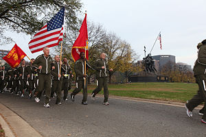 Unit run - Commandant James T. Conway leads a unit run in celebration of the Marine Corps birthday.