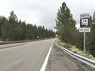 Nevada State Route 28 - View from the south end of SR 28 looking northbound