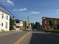 2016-06-26 18 09 42 View south along Virginia State Route 42 (Main Street) at Rockingham Street in Timberville, Rockingham County, Virginia.jpg